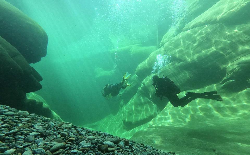 plongee Verzasca Deep Turtle