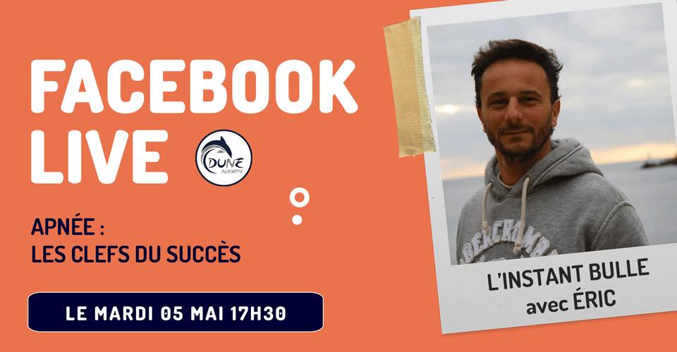 Couverture événement Facebook live apnée dune Academy